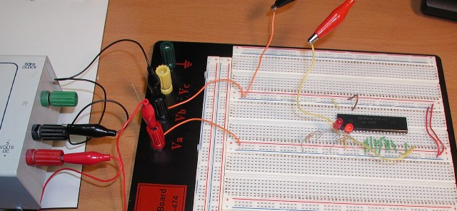 First 1802 Solderless Breadboard Test